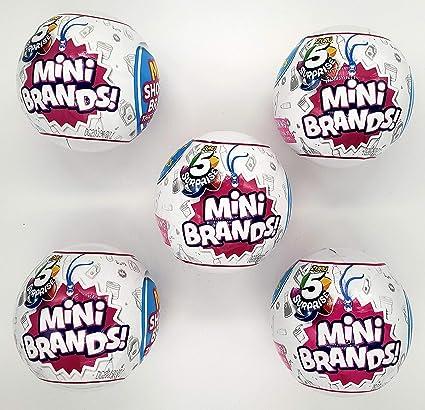 5 SURPRISES 5 SURPRISE MINI BRANDS 1 BALL BIRTHDAY GIFT