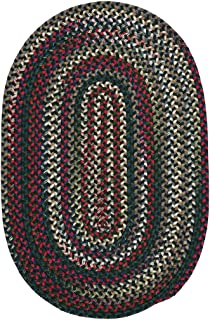 product image for Colonial Mills Aurora Reversible Braided Accent Rug (2' x 3') Thyme Green Red, Blue, Natural