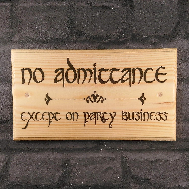 Amazoncom Vinmea Large No Admittance Plaque Sign The Hobbit Gate