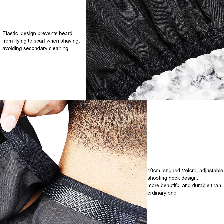 Grembiule da barba Mantellina da barba per facilitare la rasatura e non sporcare il lavandino ogni volta che si taglia la barba Regalo da Uomo 1DOT2 Beard Bib Bavaglino da barba