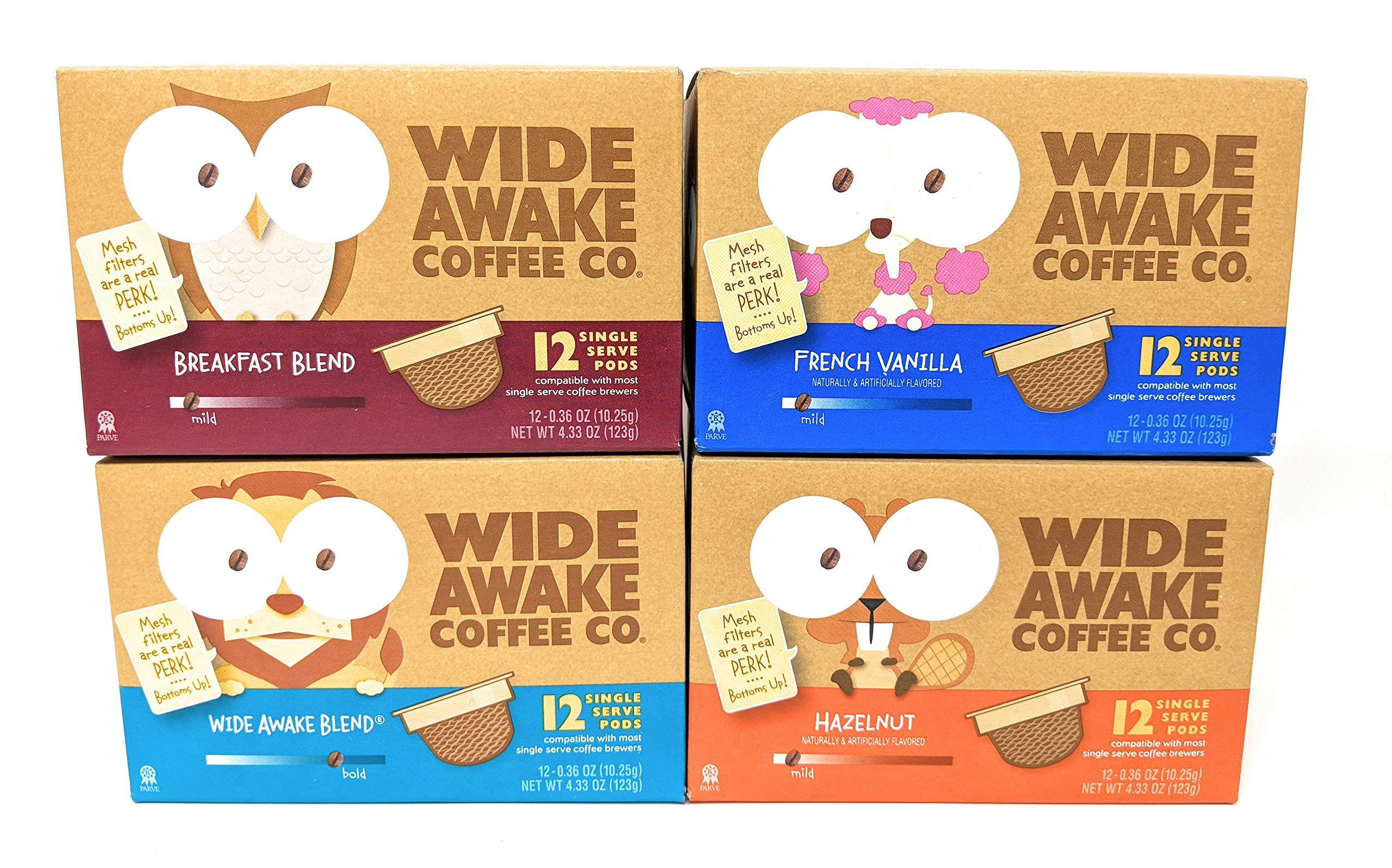 Wide Awake Coffee, 12 K-cups, Variety Pack (Pack of 4): Amazon.com: Grocery & Gourmet Food