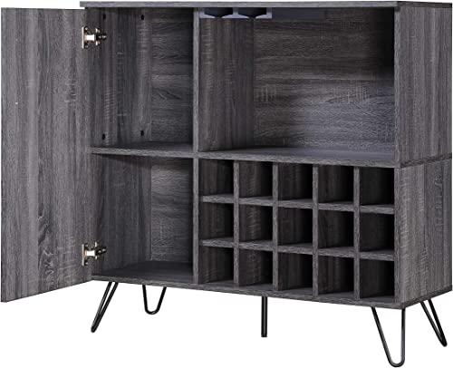 Christopher Knight Home Lochner Mid-Century Faux Wood Wine and Bar Cabinet