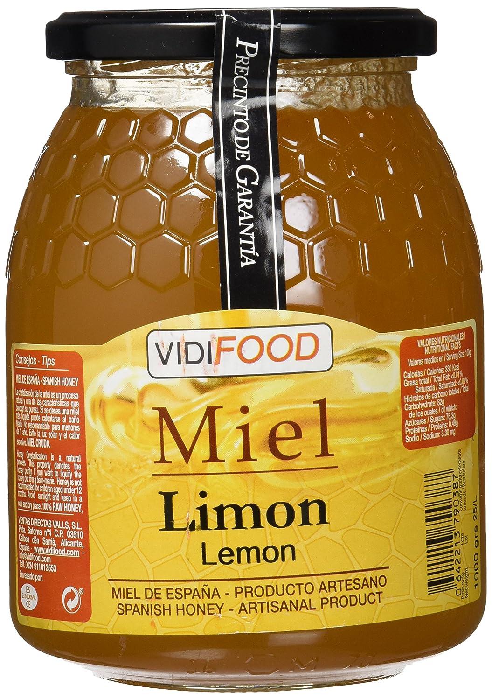 Miel de Limón - 1kg - Fabricada en España - Alta Calidad, tradicional & 100% pura - Aroma Floral, Sabor Rico y Dulce - Amplia variedad de Deliciosos ...