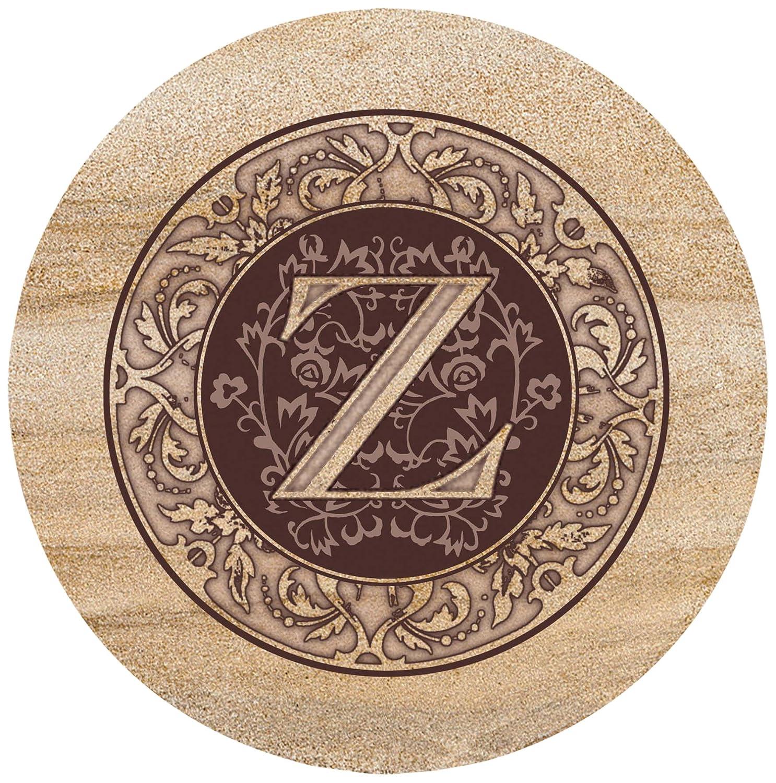 Thirstystone Sandstone Trivet Monogram Z TTMZ
