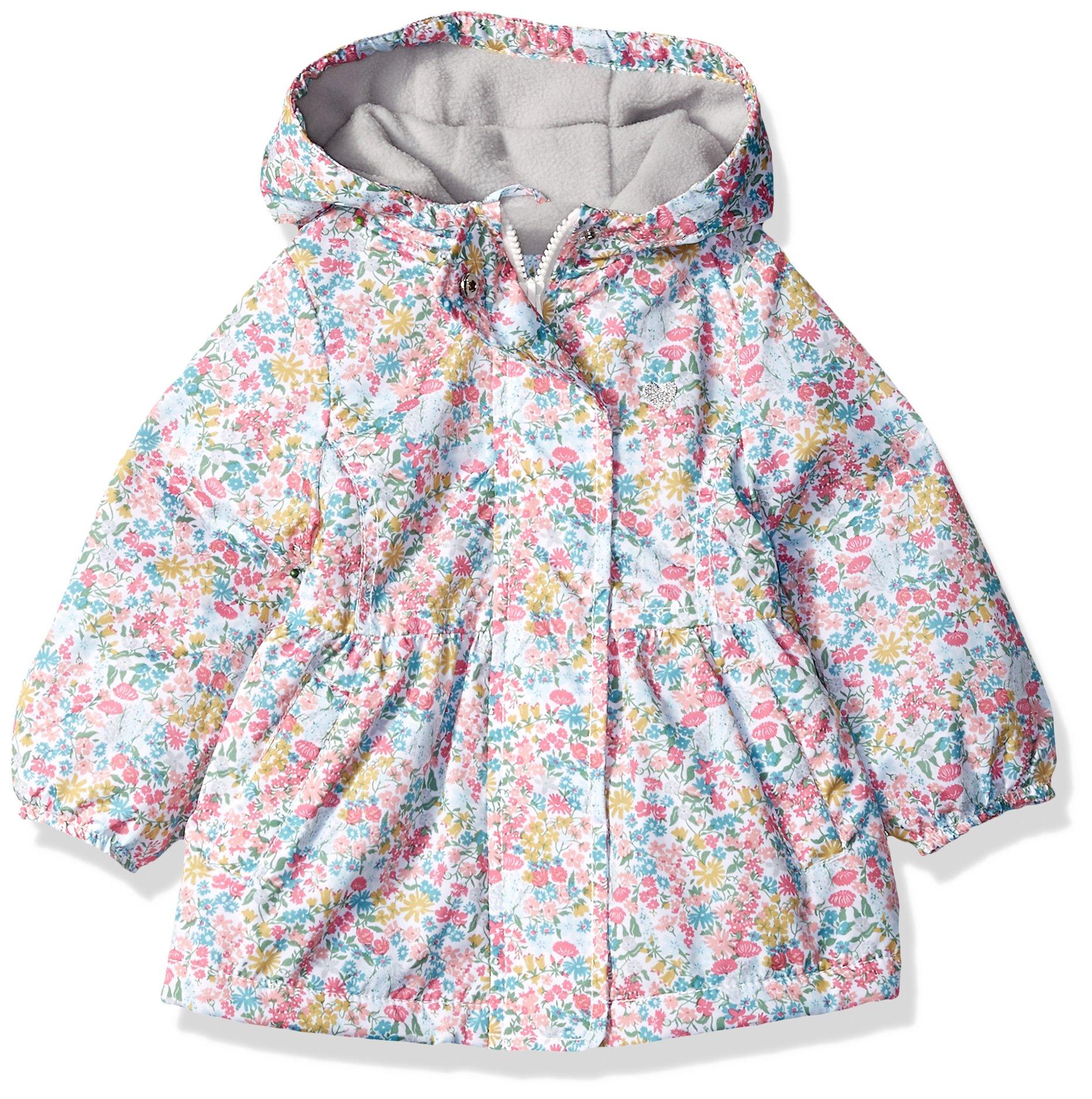 Carter's Baby Girls Midweight Fleece Lined Windbreaker, Ditsy Floral, 12M