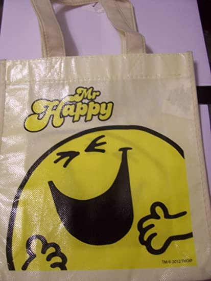 Happy Men /& Little Miss Reusable Tote Bag Featuring Mr Yellow Mr