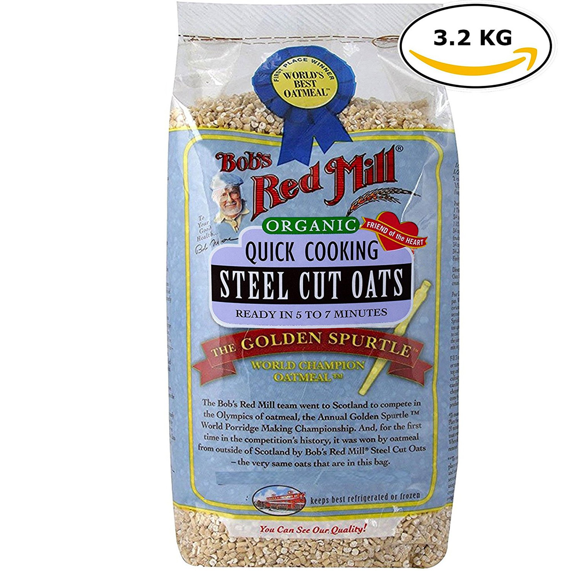 Bob's Red Mills Quick Cooking Organic Steel Cut Oats, The Golden Spurtles 7.1 Lbs Bag