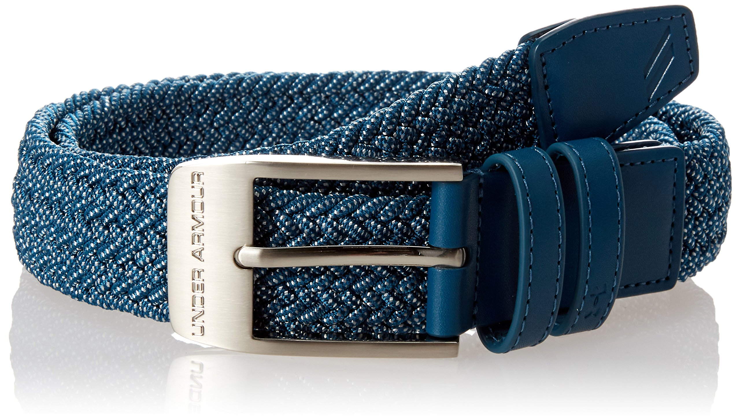 Under Armour Men's Braided 2.0 Belt, Techno Teal, 42 by Under Armour
