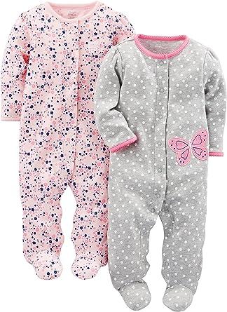 Simple Joys by Carters Baby Schlaf 2er-Pack und Spielanzug aus Baumwolle mit F/ü/ßen