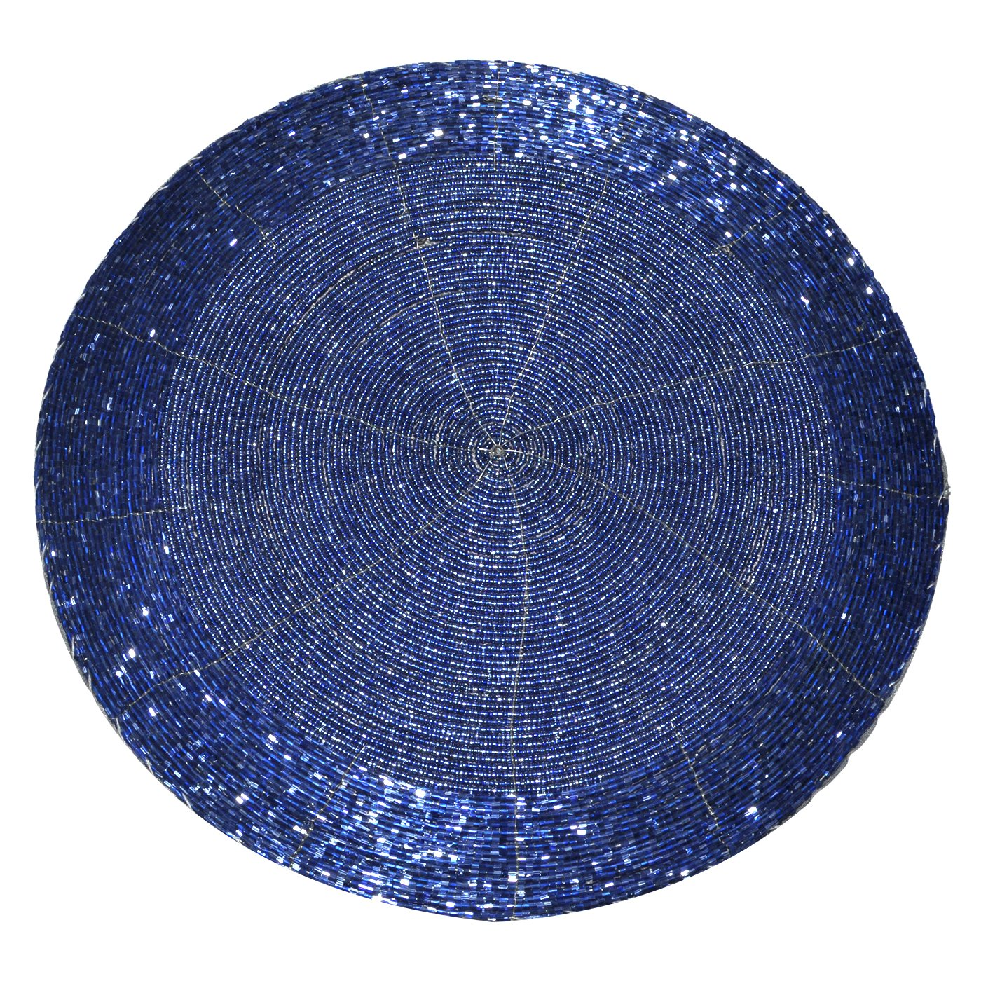 DakshCraft 4 Beaded Round Ethnic Placemat/Tablemat(Dia - 12'') with 4 tea cup coaster(Dia - 4'') and 4 napkin ring(Dia -1.5'') for Christmas Gift, Decorative Item, Gifts Purpose, dining accessories by DakshCraft (Image #3)
