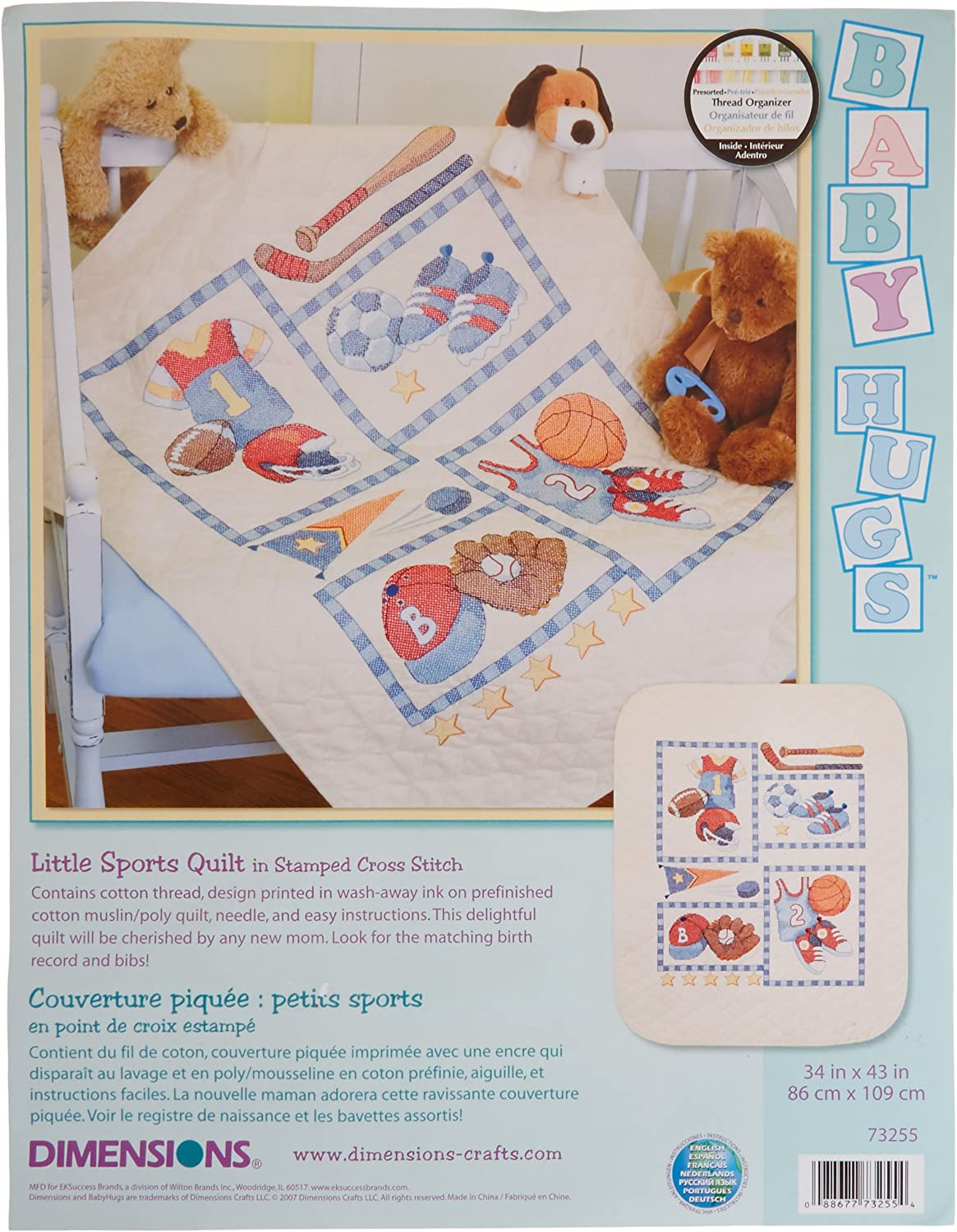 Baby Express Dimensions Stamped X Stitch bibs Pk Of 2