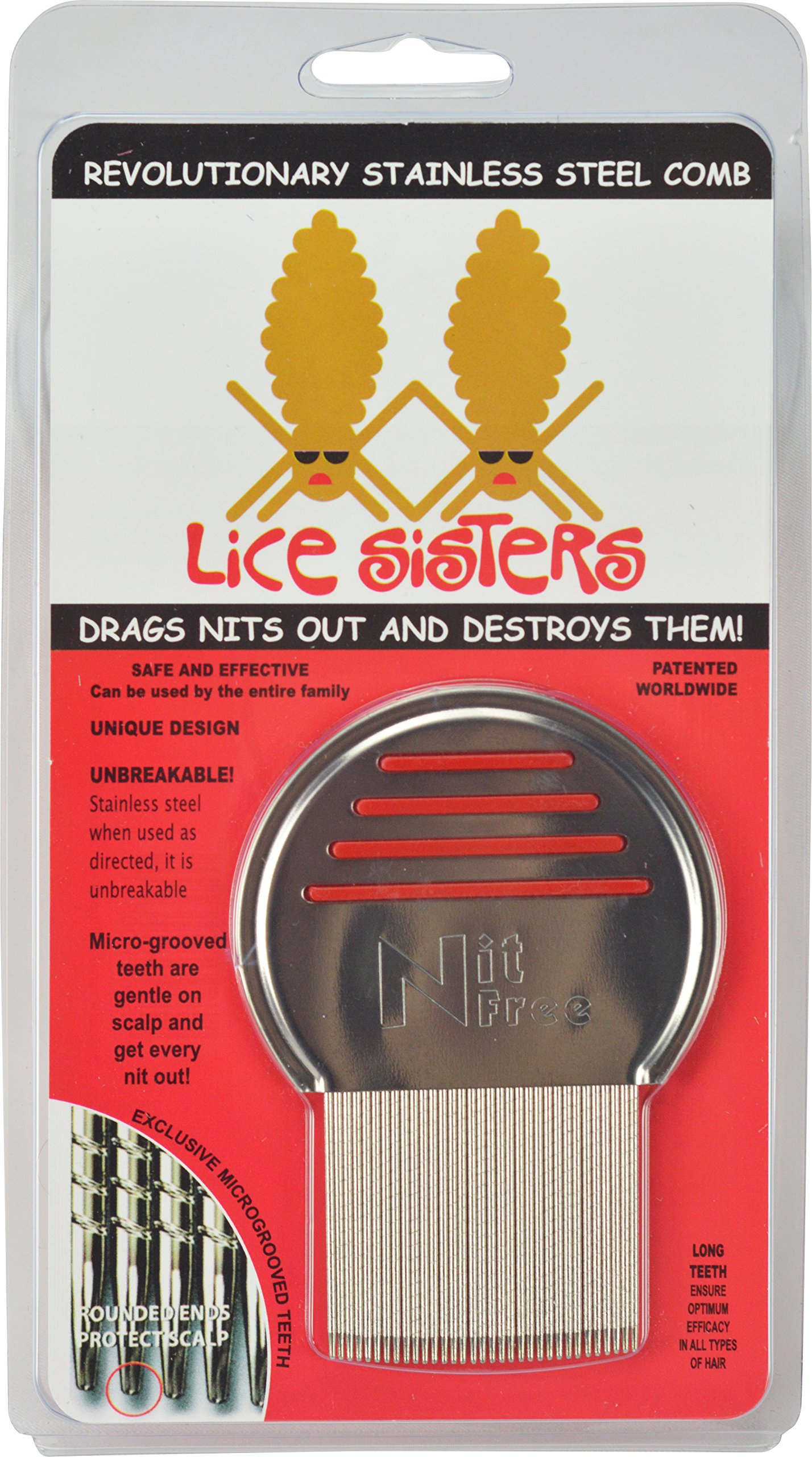 Lice Sisters - Metal Nit Comb For Removing Head Lice