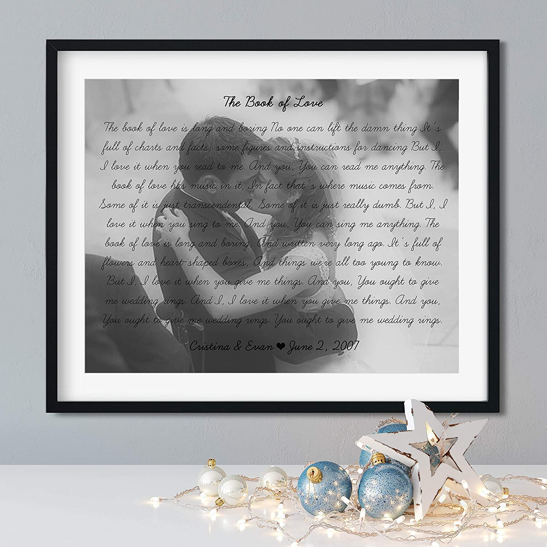 Song Lyrics Wall Decor Wedding Song Lyrics Personalized Your