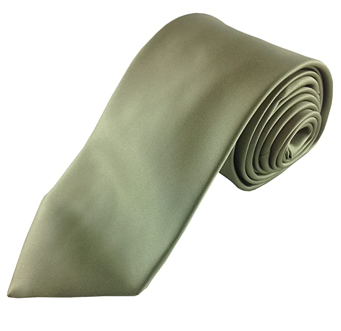 mens necktie set natural olive colored green tie with pocket square