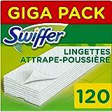 Swiffer - Recharges Lingettes Sèches pour Balai Attrape-Poussière - 120 lingettes (3x40)