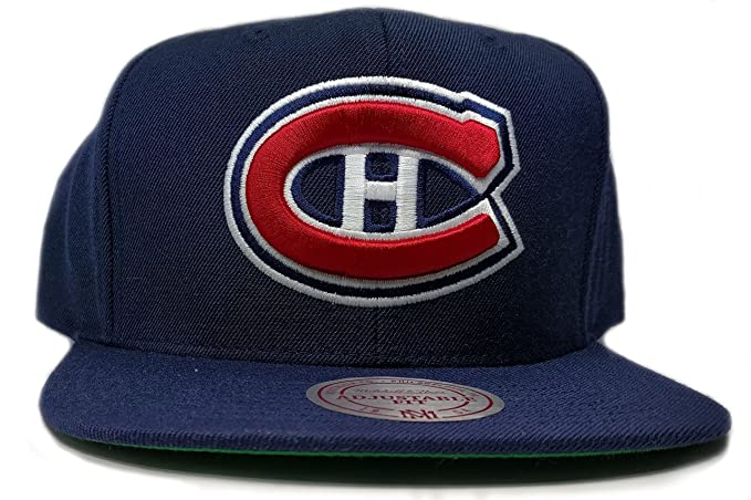 9cf36638fae Image Unavailable. Image not available for. Color  Mitchell   Ness Montreal  Canadiens Solid Wool Adjustable Snapback Hat NHL
