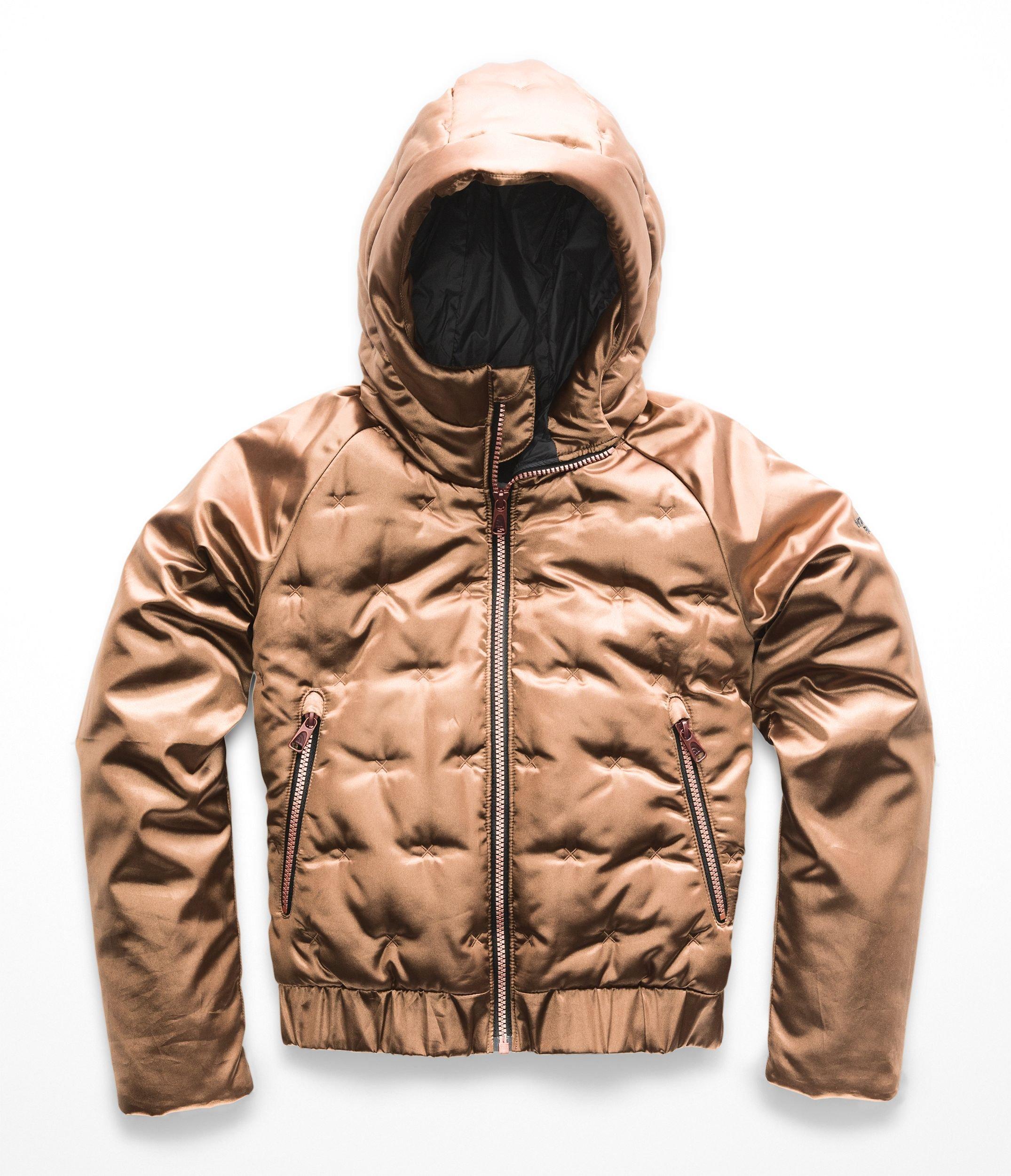 The North Face Girl's Mashup Full Zip Hoodie - Metallic Copper - S
