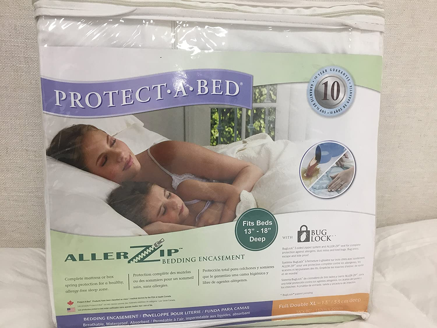 Amazon.com: Protect-A-Bed Allerzip Mattress Encasement, Full/Double XL-13: 54