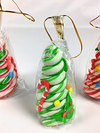 Edible Christmas Tree.Candy Cane Tree Edible Ornament Decorated With Christmas