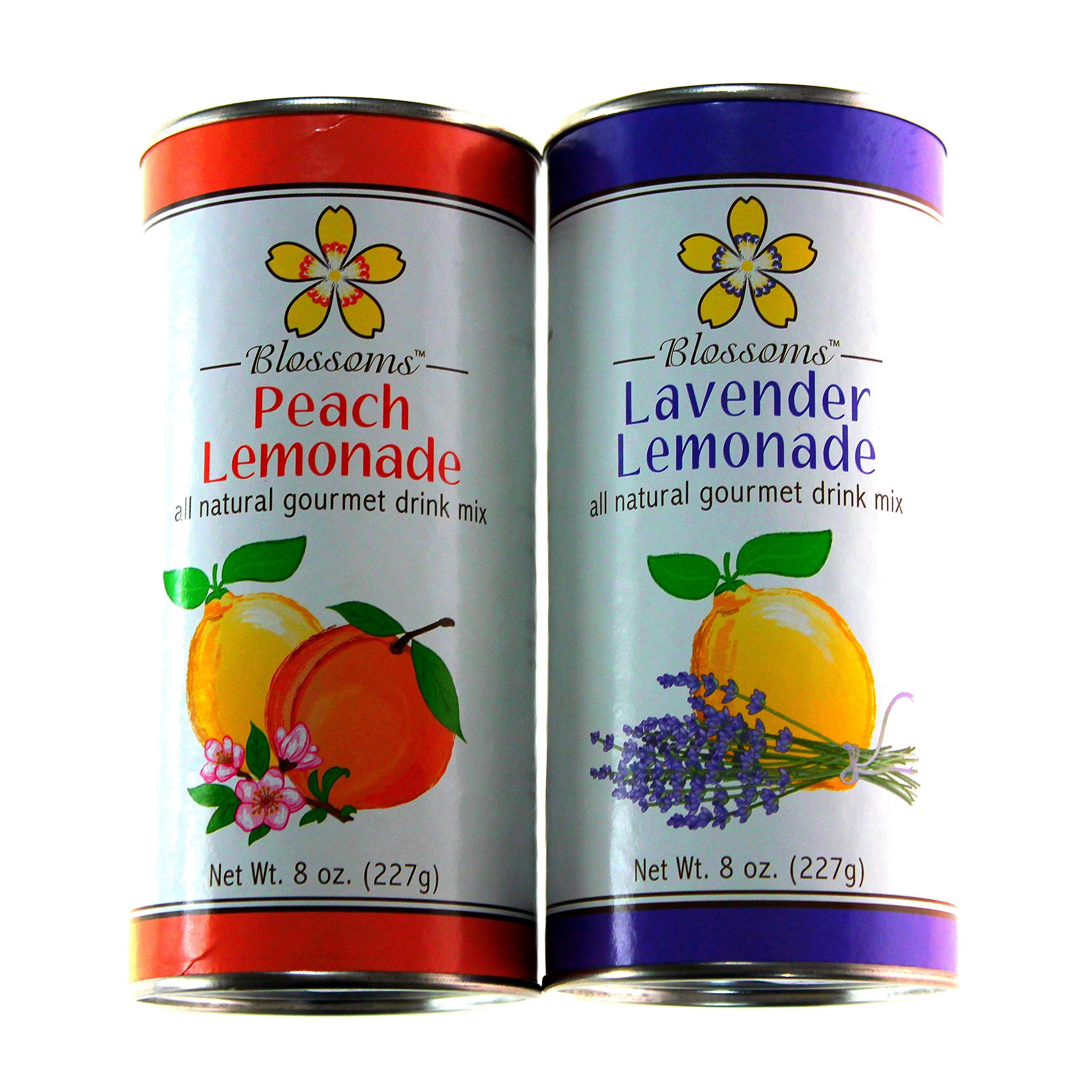Peach and Lavender Gourmet Lemonade Variety Pack, 8 oz. each by Blossoms Peach and Lavender Lemonade (Image #1)