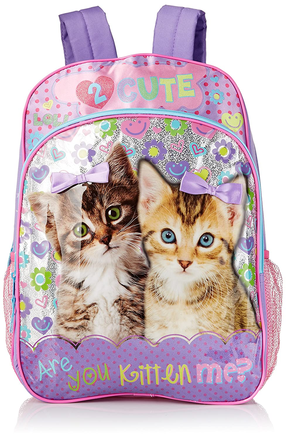 6ad2dfafb469 Underrated Girls' Cute Kitten/Puppy Backpack, Purple