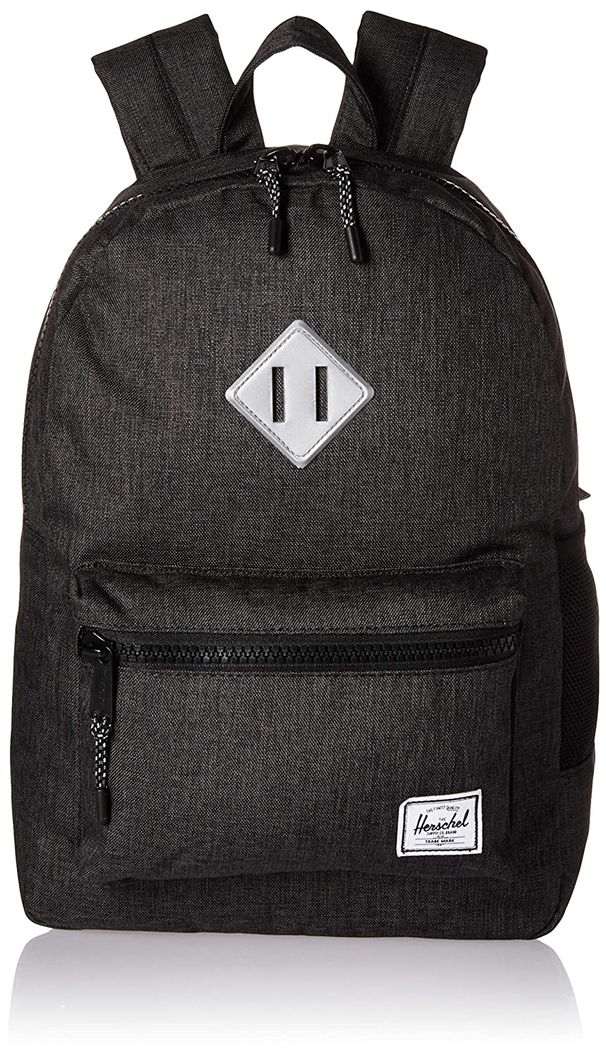 Herschel Supply Co, 10312-02353-OS 子供用バックパック, Black Crosshatch/Silver Reflective Rubber, One Size B07B9XZSFB