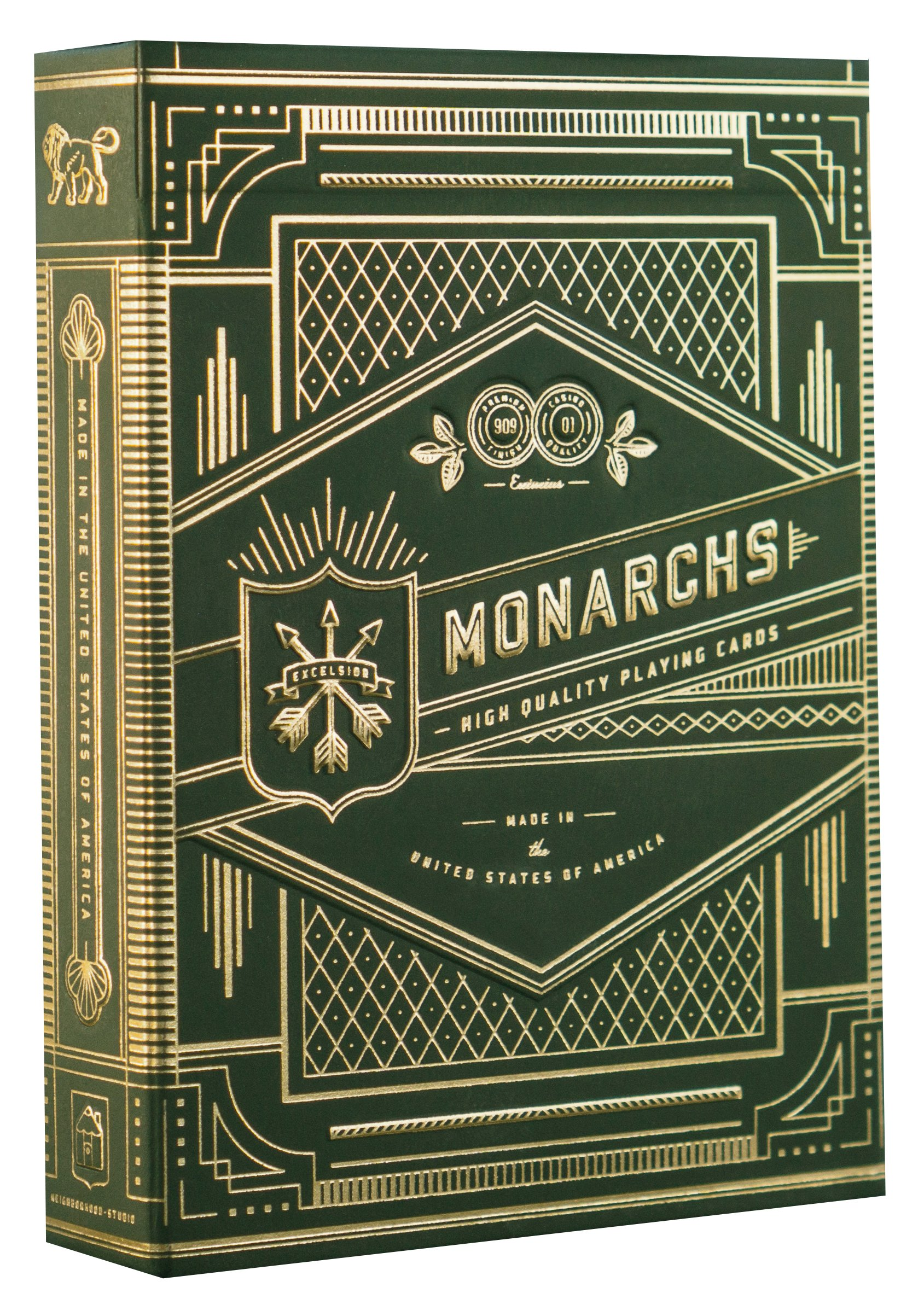 theory11 Monarch Playing Cards (Green)
