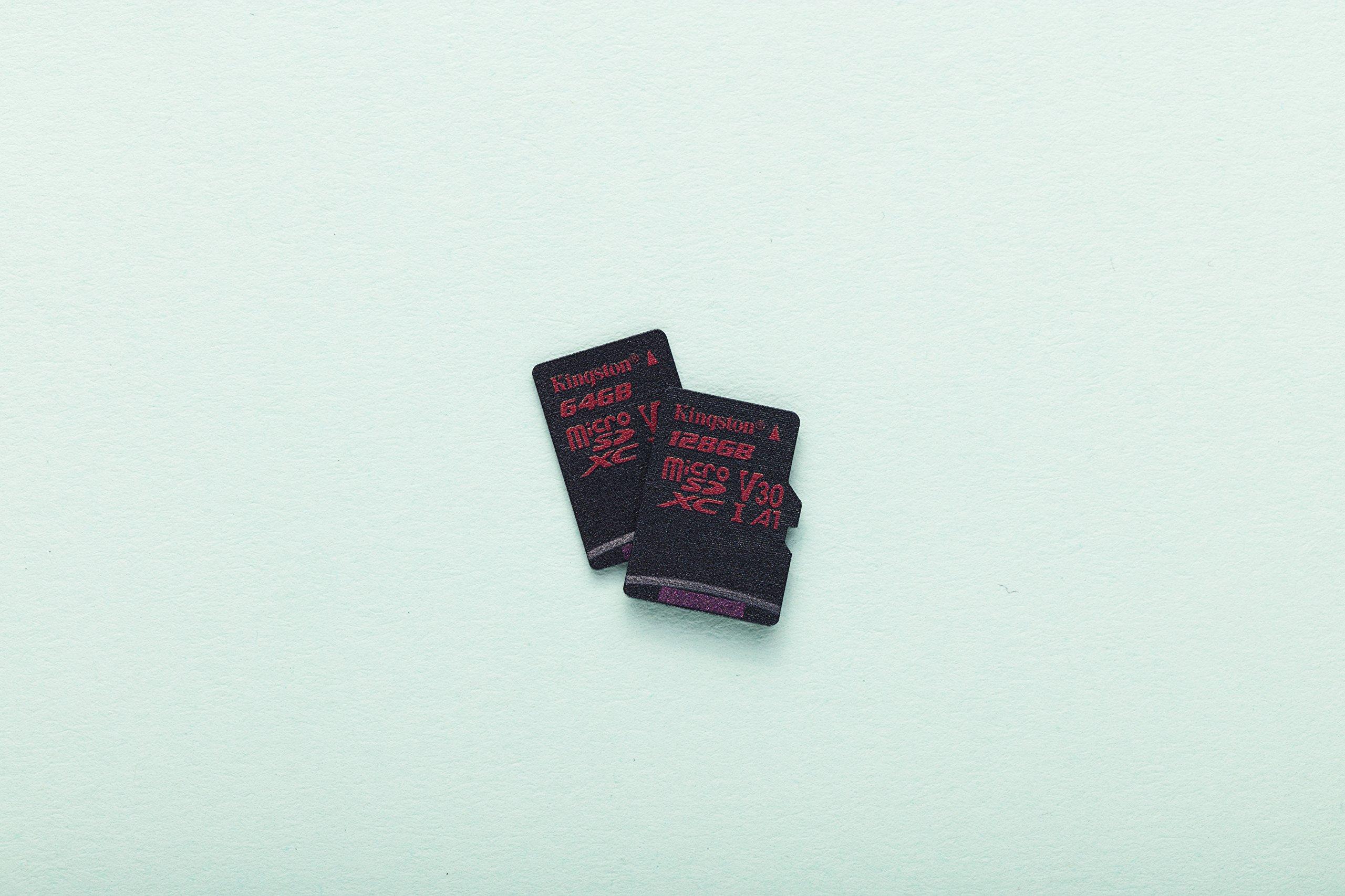 Kingston Digital SDCR/256GB Canvas React 256GB microSDXC Class 10 microSD Memory Card UHS-I 100MB/s R Flash Memory High Speed microSD Card with Adapter by Kingston (Image #5)