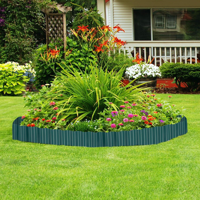 Relaxdays, Marrón, Delimitador de jardín, Borde Flexible para césped, Plástico, 20 x 900 cm: Amazon.es: Jardín