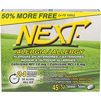 NEXT Allergy Tablets, 45 Count
