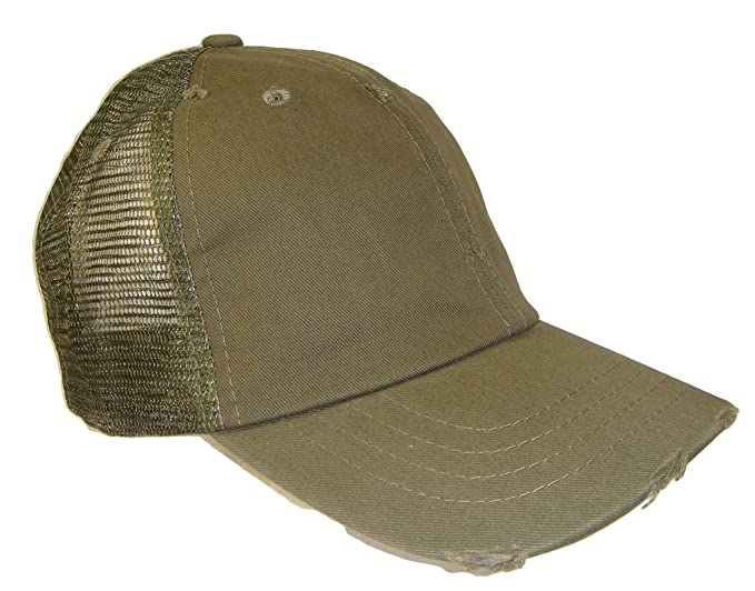 Distressed Weathered Vintage Mesh Trucker Cap (One Size 3fcbf8e3f9f