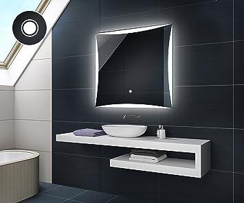 Design Badspiegel mit LED Beleuchtung Badezimmerspiegel von Artforma ...