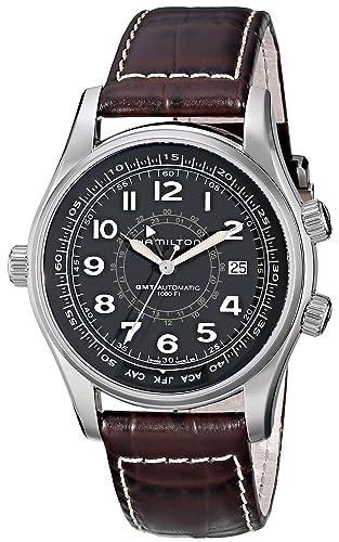 Hamilton H77505535 - Reloj de Pulsera Hombre, Color Marrón: Amazon.es: Relojes