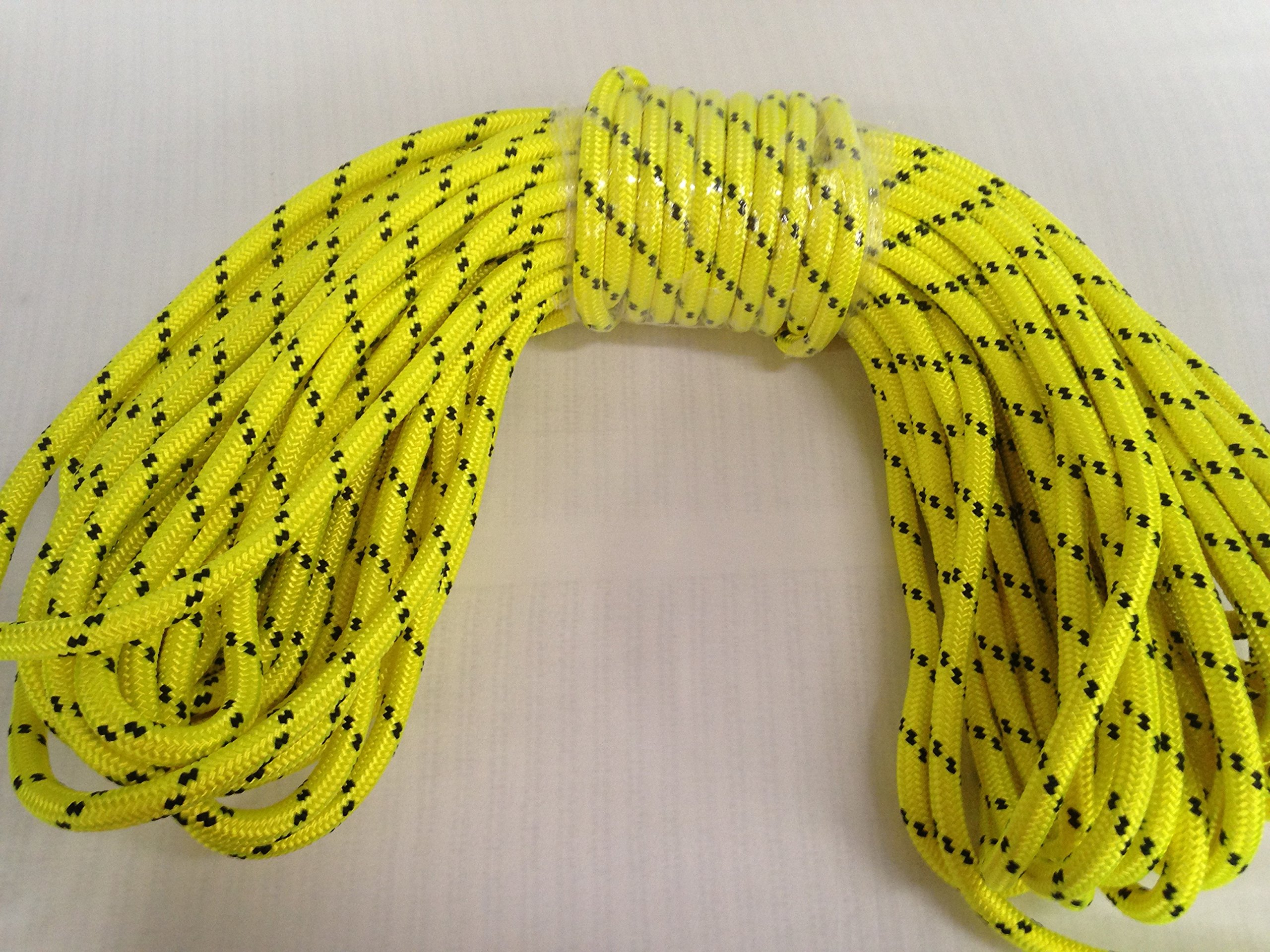 1/2'' X 200' Double Braided Polyester Arborist Tree Rope, Yellow by Blue Ox Rope (Image #2)