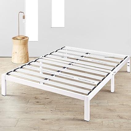 Mellow BP E WHQ Rocky Base E 14 Platform Bed Queen White