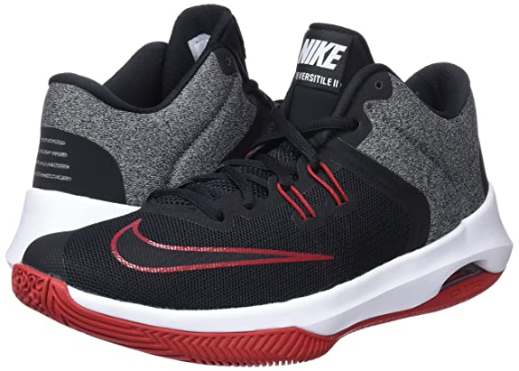 Amazon.com | Nike Mens Air Versitile II Basketball Shoe, Black/White-Gym red, 11.5 Regular US | Basketball