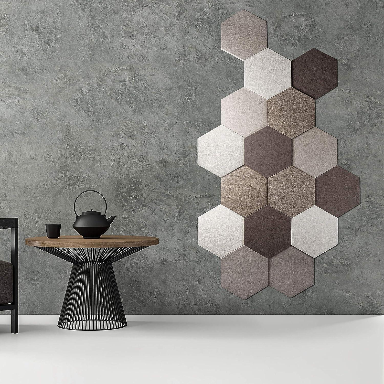 ANTEVIA/® Panneau acoustique hexagone /épaisseur 24mm : 33 x 28,6 x 2,4 cmRouge