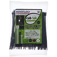 Novoflex 100mm Cable Ties, Pack of 100, Black