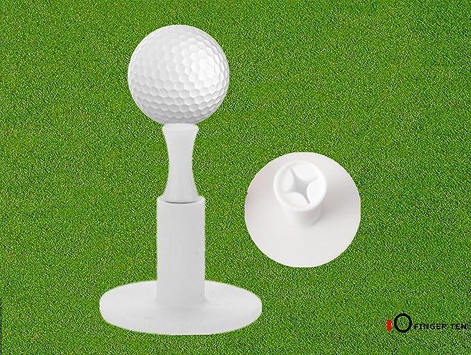 Finger Ten Tees de Golf de Goma, Gama de Conducción, Paquete de 3 y 6 Unidades de 3,81 cm y 5,08 cm, con 6 Camisetas