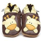 Chaussons Bébé en cuir doux - Girafe - 12/18 mois