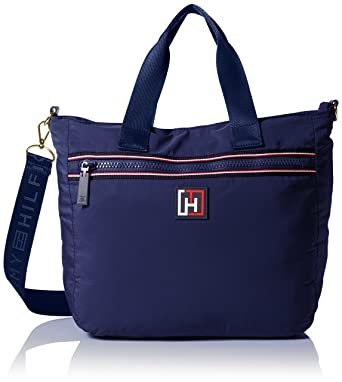 7ce9f00c6 Tommy Hilfiger Nylon Large Shopper Shoulder Bag, Navy, One Size ...