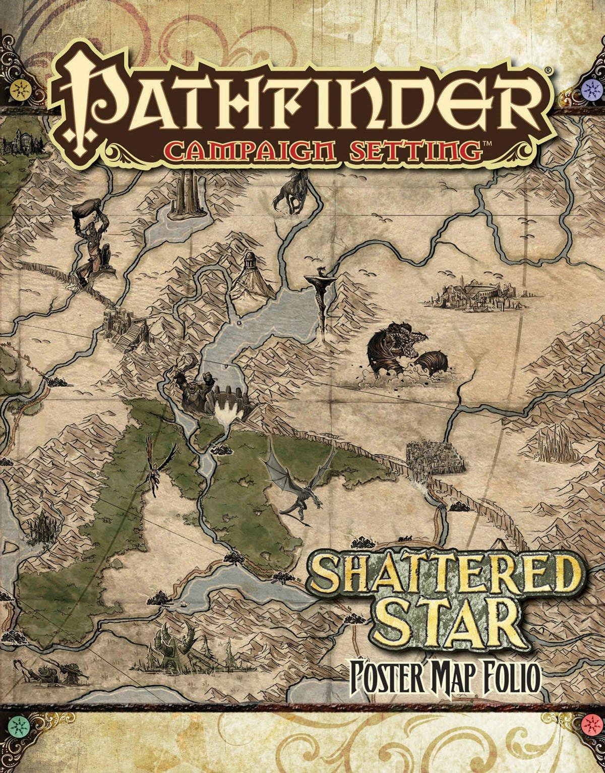 Pathfinder Campaign Setting: Shattered Star Poster Map Folio: Amazon.de:  Paizo Staff, Robert Lazzaretti: Fremdsprachige Bücher