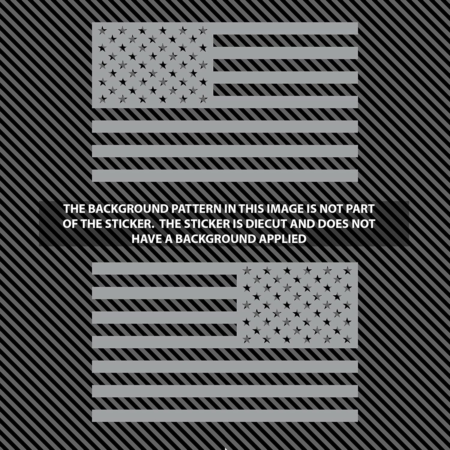 Classic Biker Gear Subdued American Flags Tactical Military Flag USA Decal 5x3 Pair Matte Black