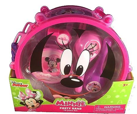 Amazon.com: Disney Minnie Mouse Party Band 10 Piece Play Set Music ...