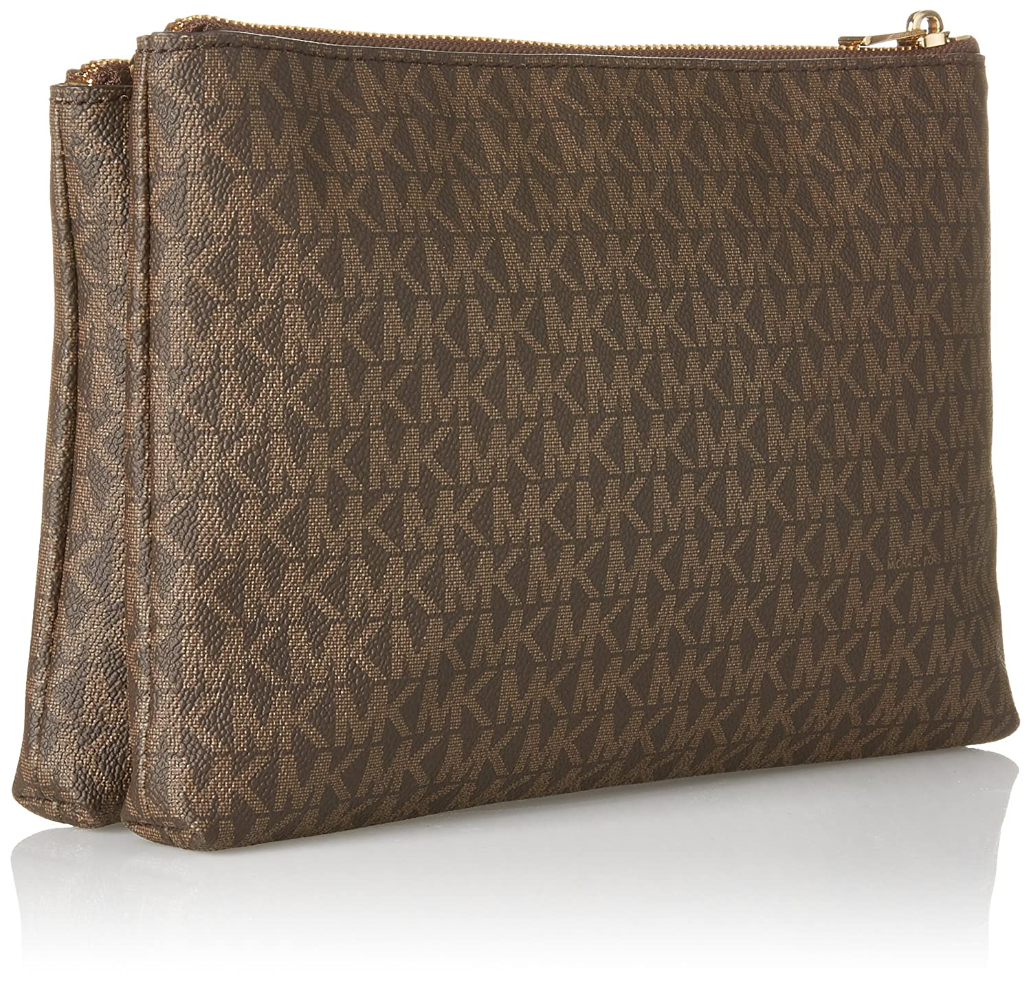 9d2eb9d0c5a5 MICHAEL Michael Kors Women s Adele Double Zip Wristlet  Handbags  Amazon.com