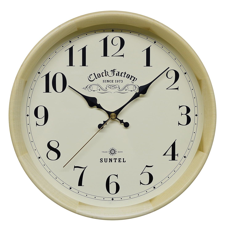 さんてる レトロ電波時計 日本製掛け時計 ナチュラル DQL662NA B019E6150Yナチュラル