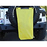 """ALIEN SUNSHADE for Jeep Wrangler Mesh Rubisack Exterior Storage Bag for Trash or Trail Gear Buzz Yellow Includes 48/"""" Carabiner Bungee"""