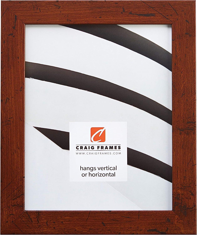 Craig Frames FM26DKW 24 by 36-Inch Picture Frame, Smooth Wrap Finish, 1.26-Inch Wide, Dark Brown