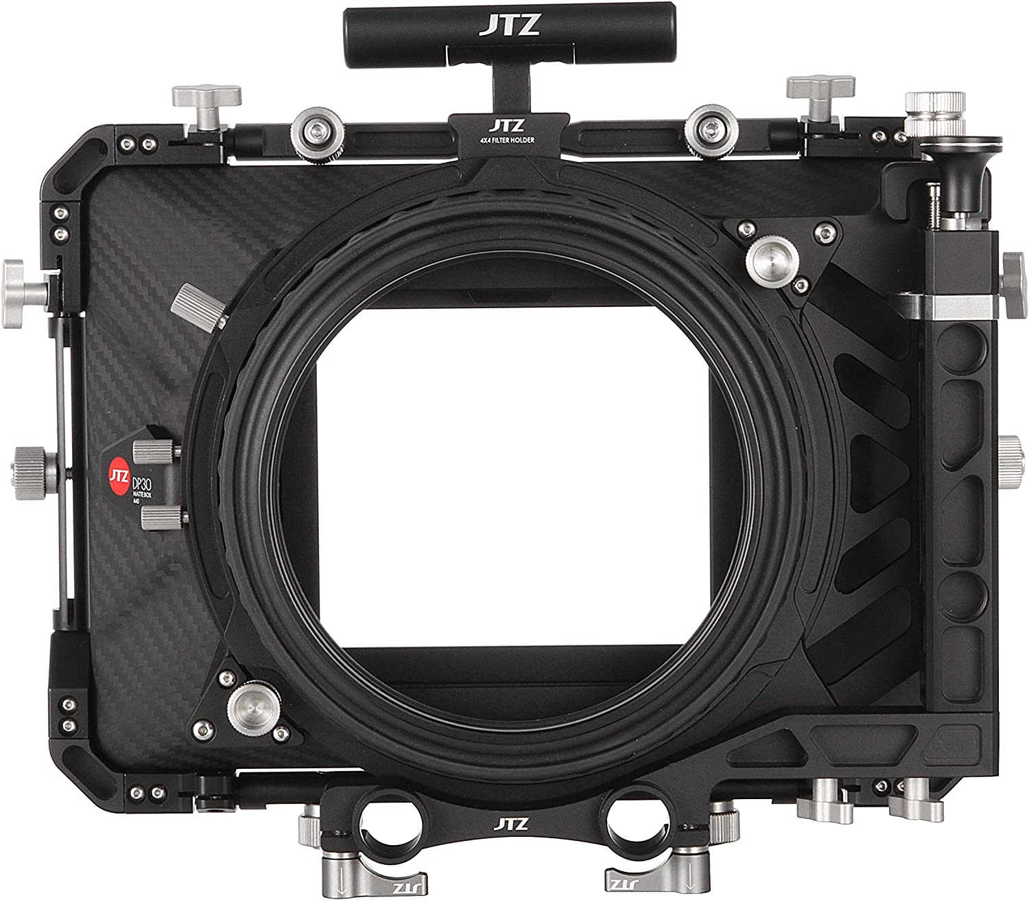 JTZ DP30 Cine Lens Carbon Fiber 4x4 Swing-Away Matte Box with 15mm//19mm Rod Rail Rig for Sony FS5 FS7 ARRI RED Canon C100 C200 C300 BM D Blackmagic BMPCC BMCC Pocket Cinema Panasonic Camera