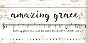 Amazing Grace How Sweet The Sound Music Notes Wood Wall Sign 9x18